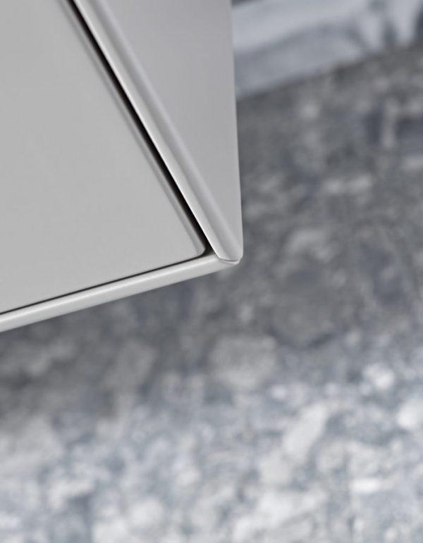 Monograph 800mm white corner detail Lifestyle