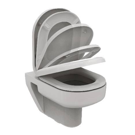 IDEAL STANDARD PLAYA WALL HUNG PAN SOFT CLOSE SEAT