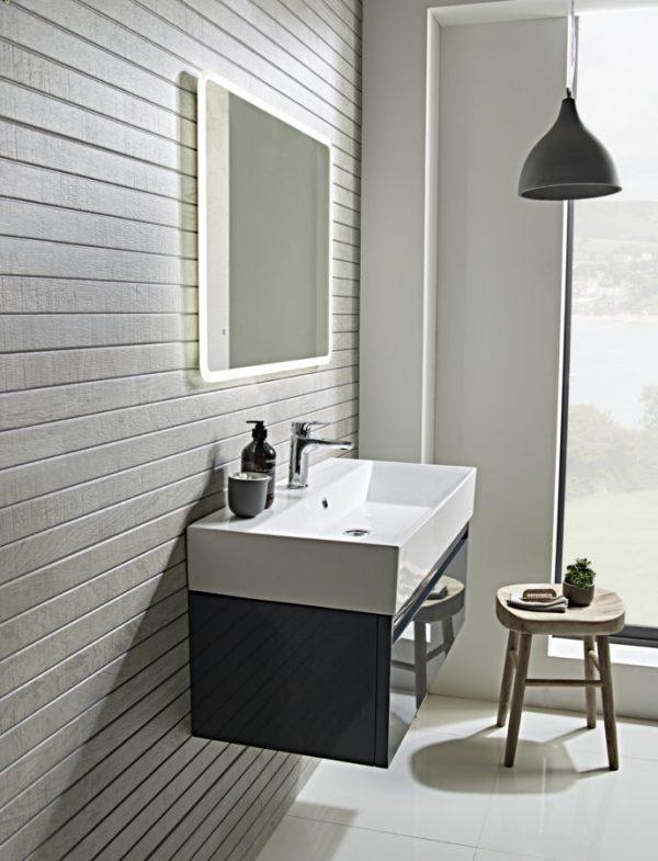 TAVFR90WDGG Forum 900mm wall mounted dark grey gloss lifestyle