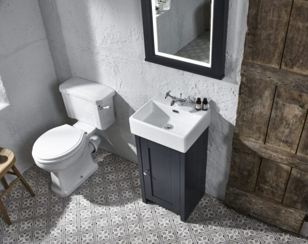 TAVLAN400C.DGM lansdown cloakroom unit mirror dark grey matt 2