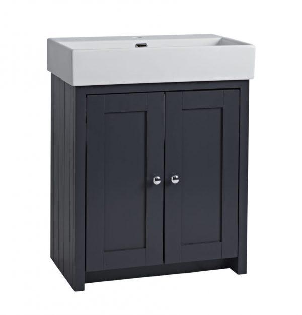 TAVLAN700B.DGM Lansdown 700mm freestanding unit dark grey matt