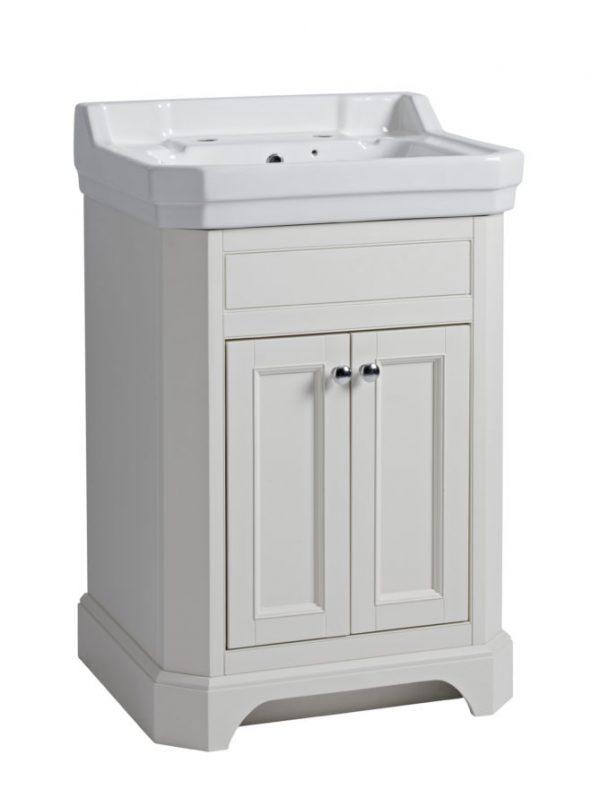 TAVVT60FLW Vitoria 600mm freestanding unit linen white