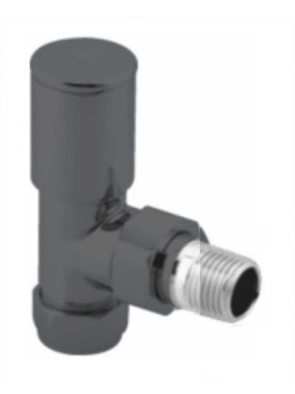 raval02   round angled anthracite radiator valve