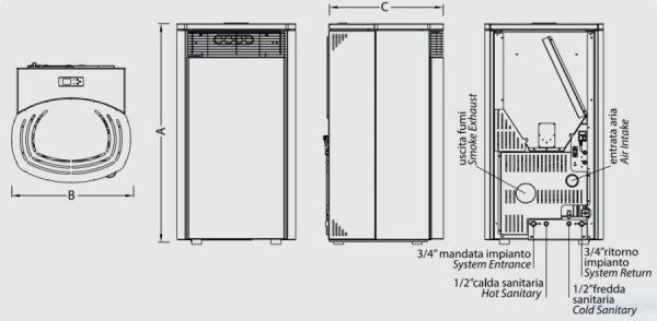 Ungaro Pellet Stove F Style info