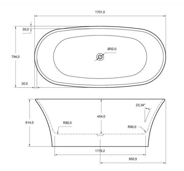ion bath dimensions