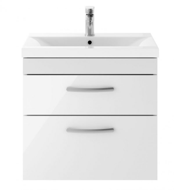 AT60WHTW Athens 600 Wall Hung Twin Drawer White scaled