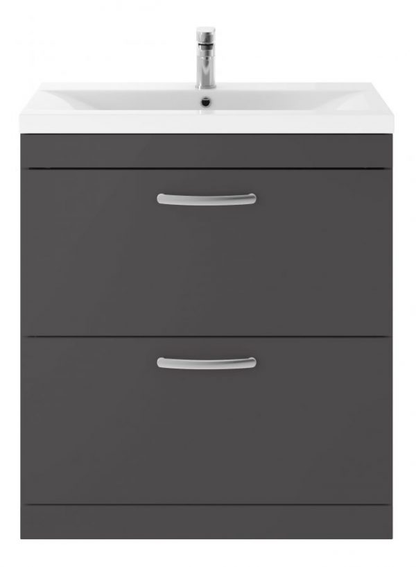 AT80FDG 800 Free Standing Twin Drawer Dark Grey scaled