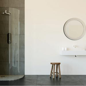 flair frameless curved shower