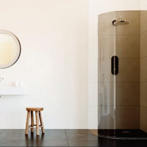 flair frameless curved shower smoked 1