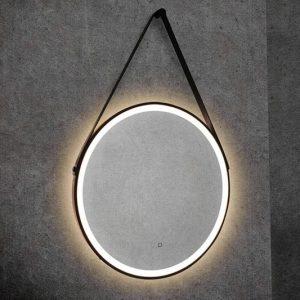 hib solstice 60 round illuminated mirror