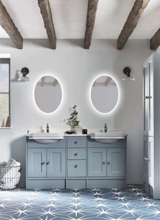 Burford Coinstone double basin run with eminence mirrors