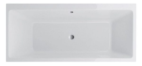 SQUARE SLIM BATH DOUBLE ENDED scaled
