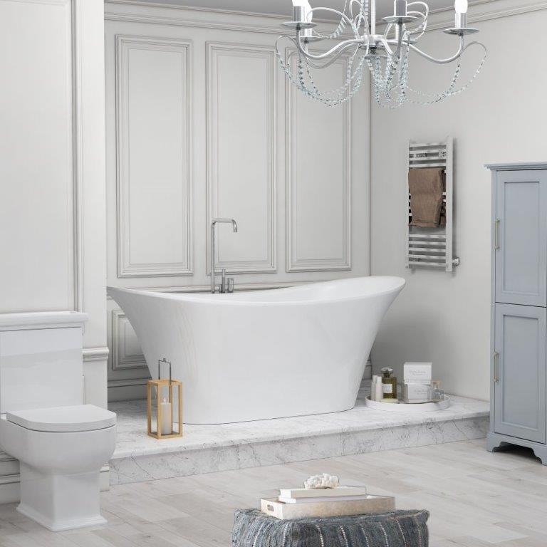 BOW WHITE BATH IMAGE