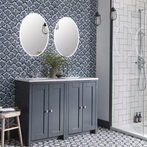 Lansdown 1200mm dark grey matt with double Aster mirror lifestyle copy