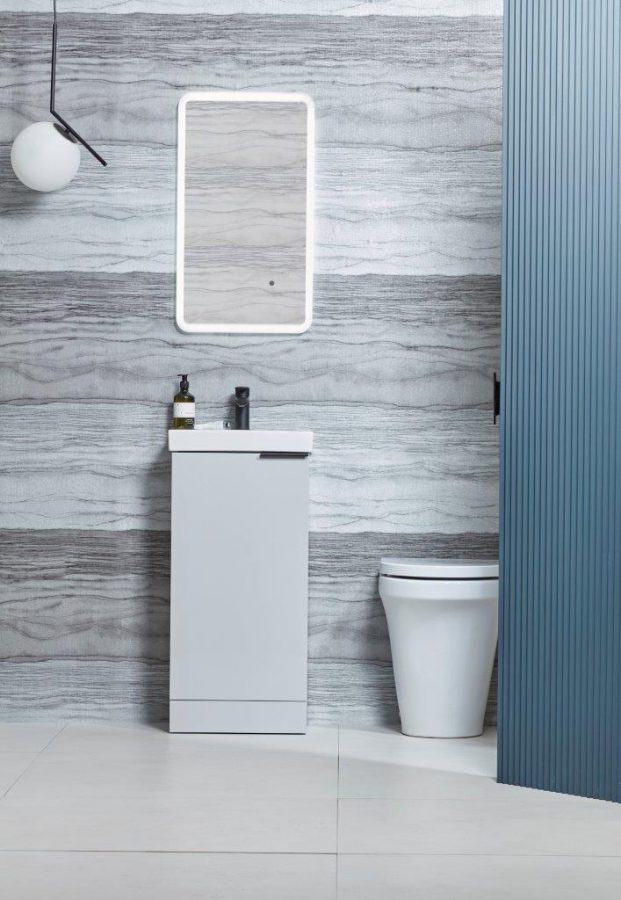 Cadence cloakroom unit light grey finish lifestyle copy