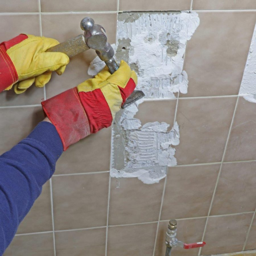 REMOVING WALL TILES