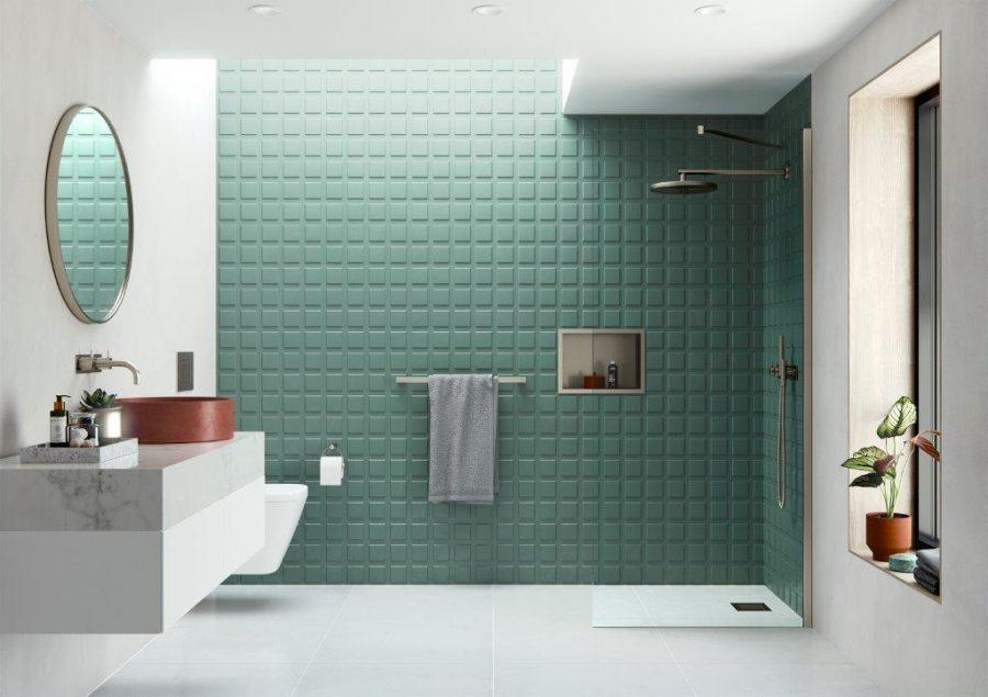 AYO Moduar AYO Wetroom Panel with Angled Stabilising Bar Brushed Nickel